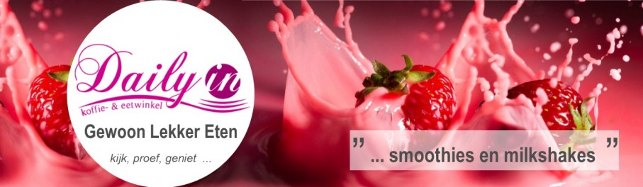 Smoothies van Daily-in, 100% puur fruit, restaurant in Lochem