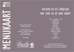 Menu-folder van Daily-in